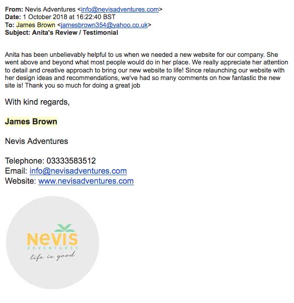 Testimonial Nevis Adventures